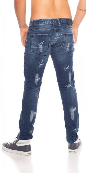 Trendy Männer Jeans Biker - Used Look