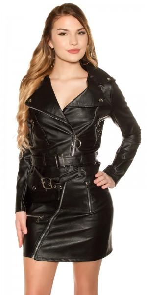 Sexy KouCla Bikerlook Jacke mit Zips & Gürtel