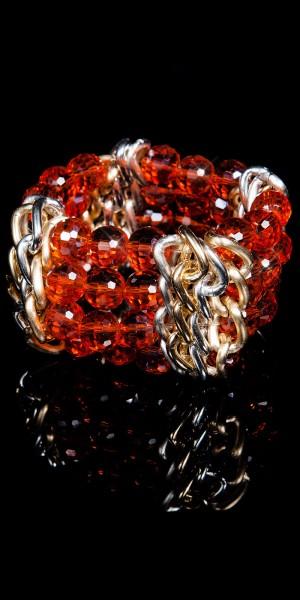 Glamour Armband mit Ketten&Glitzersteinen