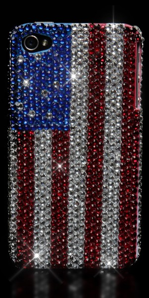 Glamour Handy Case mit Strass-US Print