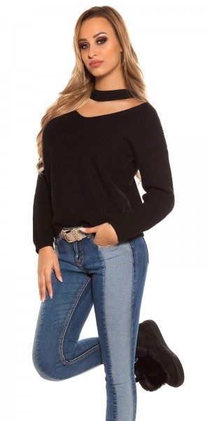 Trendy KouCla V-Cut Strickpulli