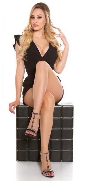 Sexy High Heel Sandalette mit Strass & Schleife
