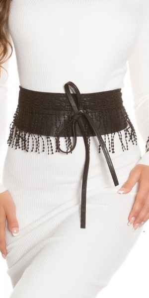Trendy Taillengürtel mit Fransen zum Binden