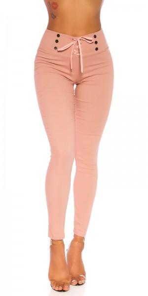Sexy highwaist Hose  mit Schnürung
