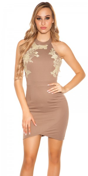 Sexy Koucla Party-Kleid mit goldener Spitze