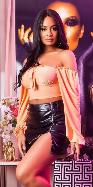 Sexy KouCla Langarm Crop Top Latina Llook