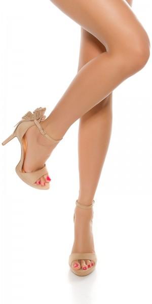 Sexy High Heel Sandalette mit Glitzernieten