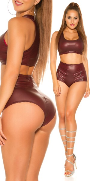Sexy KouCla Wetlook Hotpants mit Zips