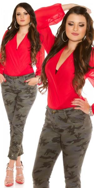 Curvy Girls Size! Sexy Camoflage Jeans mit Nieten